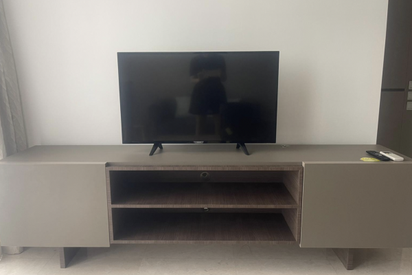 High bench marble top, TV console